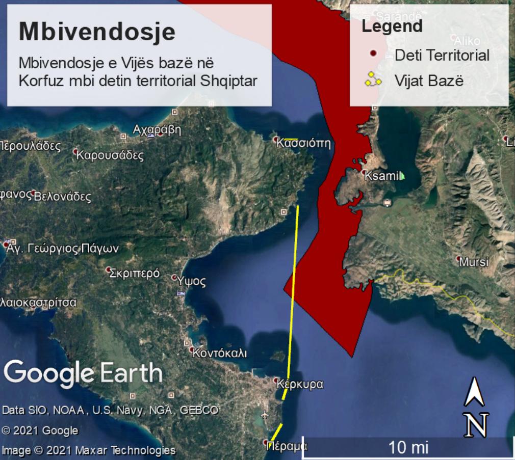 Γραμμή 3 για τα χωρικά ύδατα της Αλβανίας