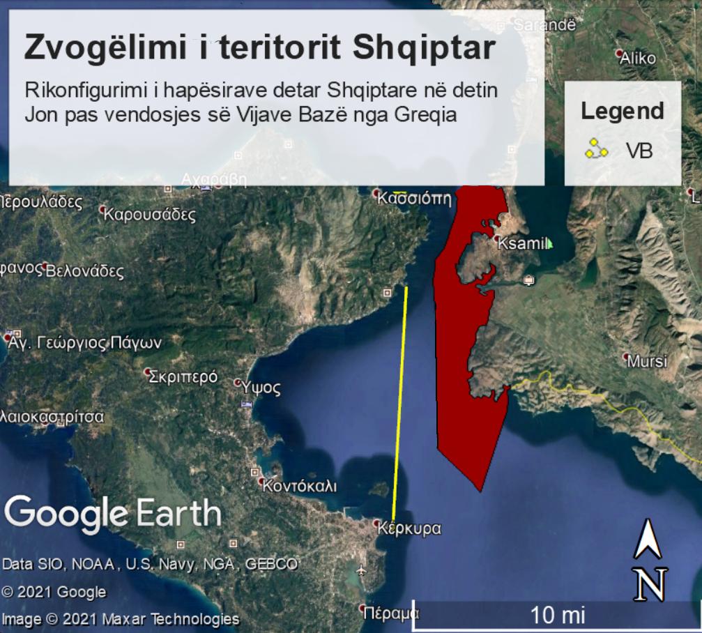Γραμμή 4 για τα χωρικά ύδατα της Αλβανίας