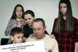 Shtetёsi islandeze pёr dy familjet shqiptare të dёbuara