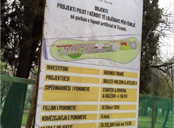 Thellohet skandali i këndit të lojrave në Parkun e Liqenit