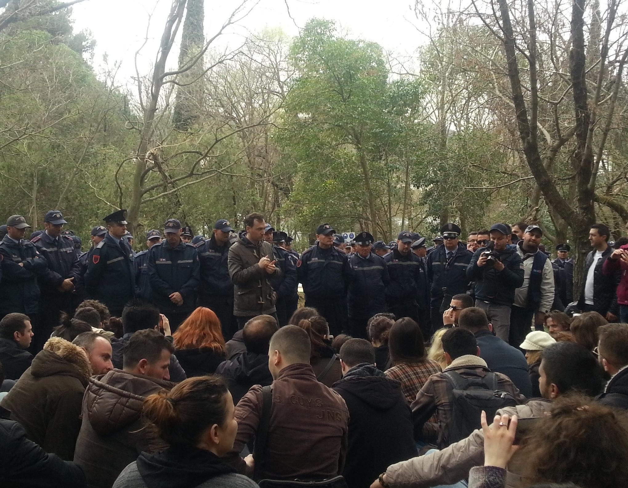 Aktivistët për Parkun e Liqenit: Policia ushtroi dhunë, protestat do të vazhdojnë