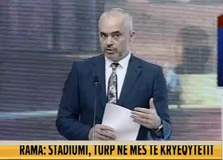 Kryeministri ka vendosur t'i shkojë deri në fund arbitraritet për projektin e Stadiumit