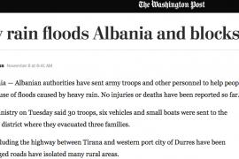 Media e huaja pasqyron përmbytjet në vend