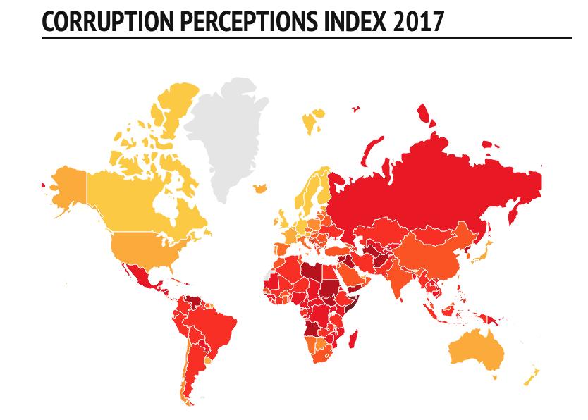 Transparency International 2017: Shqipëria, Bosnja dhe Maqedonia, tre vendet më të korruptuara në Evropë
