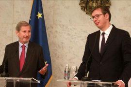 Serbi — Eurokomisioneri Hahn, 2018-ta mundësia juaj, zgjidhni konfliktin me Kosovën