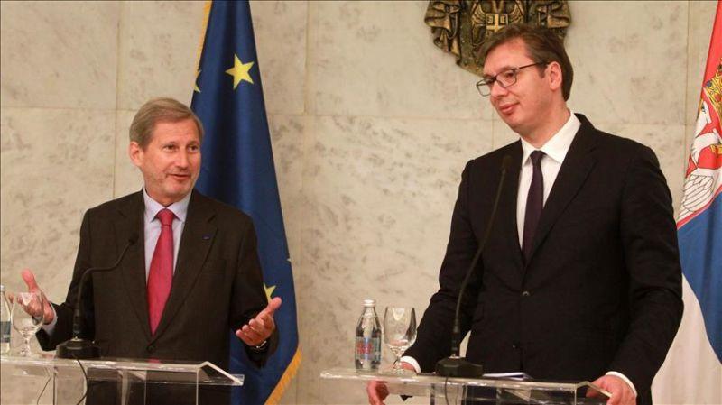 Marrëveshja Kosovë-Serbi, Eurokomisioneri Hahn: Nuk përjashtoj idenë e shkëmbimit të territoreve