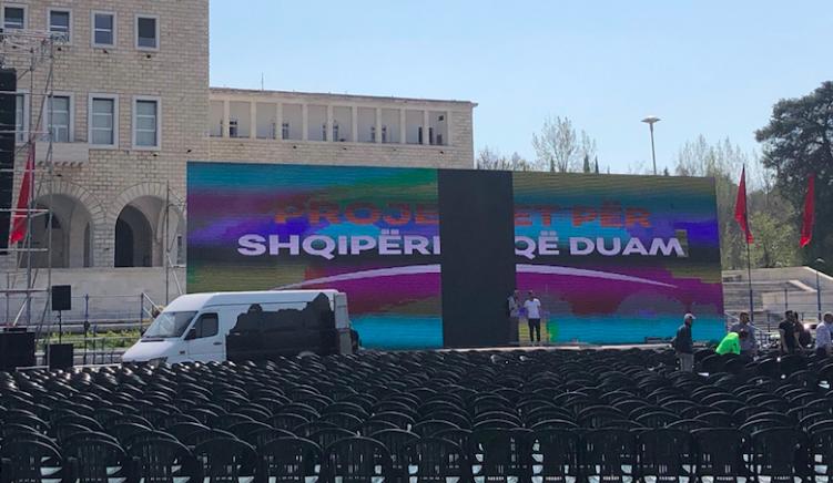 Luks dhe korrupsion: spektakli gjysëm milionë euro për prezantimin e rikandidimit të Veliajt