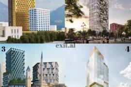 Kullat që po i zënë frymën Tiranës – Exit News liston të gjitha projektet shumëkatëshe