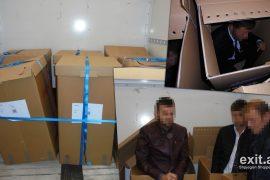 Shqiptarët trafikohen në Angli duke u futur si mallra nëpër kuti kartoni