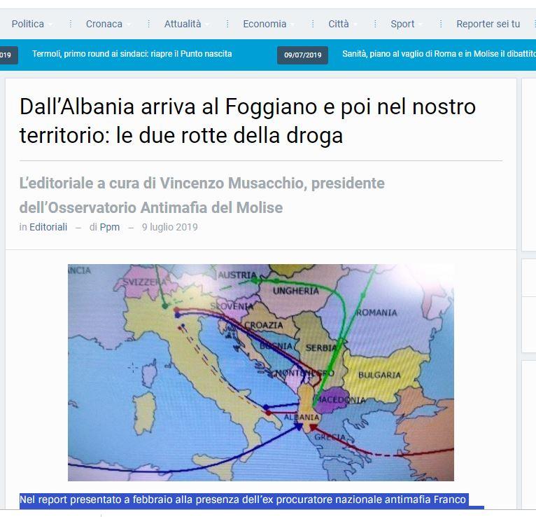 Media italiane shkruan për trafikun e drogës Shqipëri-Itali dhe bandat kriminale shqiptare