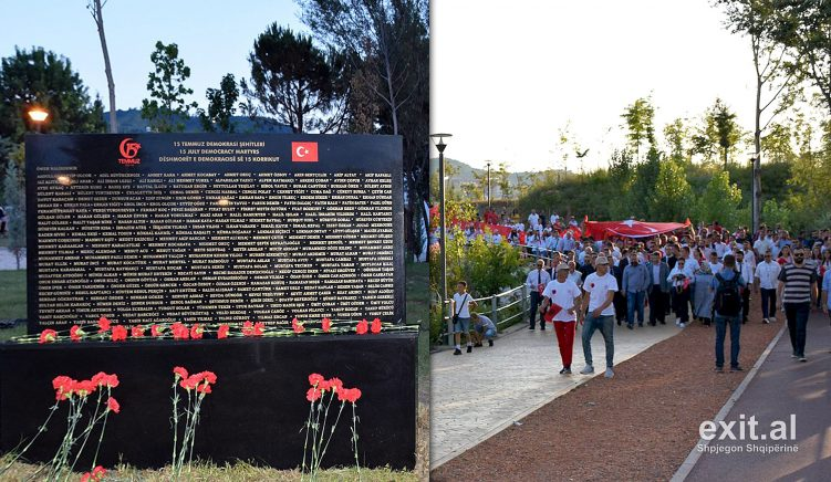 Bashkia Tiranë ngre monument për viktimat e grushtit të dështuar të shtetit kundër Erdoganit