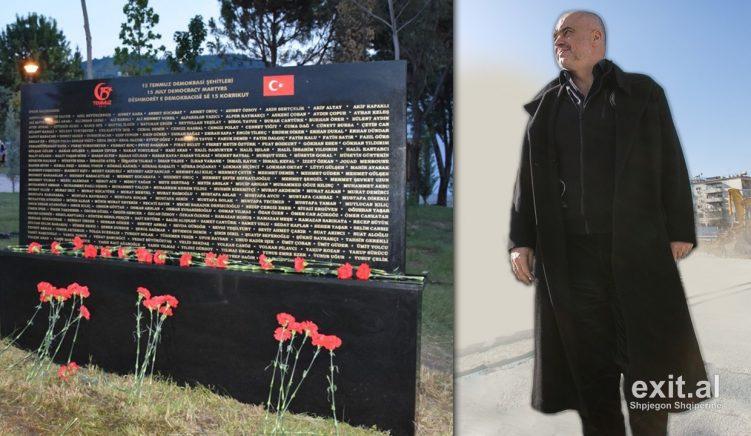 Monumenti për Erdoganin dëshmon se Rama është autokrati i përsosur