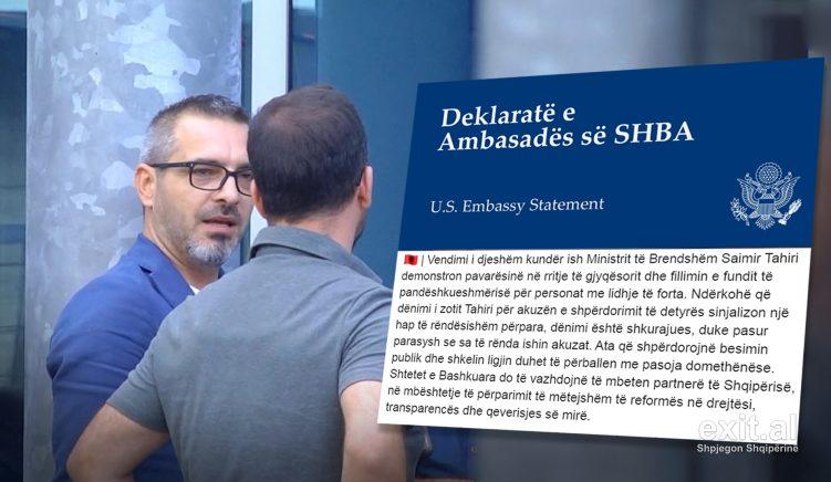 Ambasada Amerikane: Dënimi i Tahirit vetëm për shpërdorim detyre shkurajues