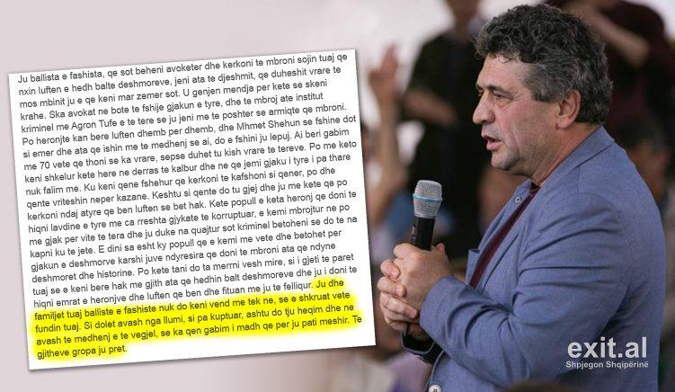 Të gjithëve gropa ju pret! – kërcënohen avokati dhe drejtori i ISKPK Agron Tufa