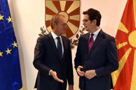 Presidenti i KE Tusk i kërkon BE-së hapjen e negociatave për Maqedoninë