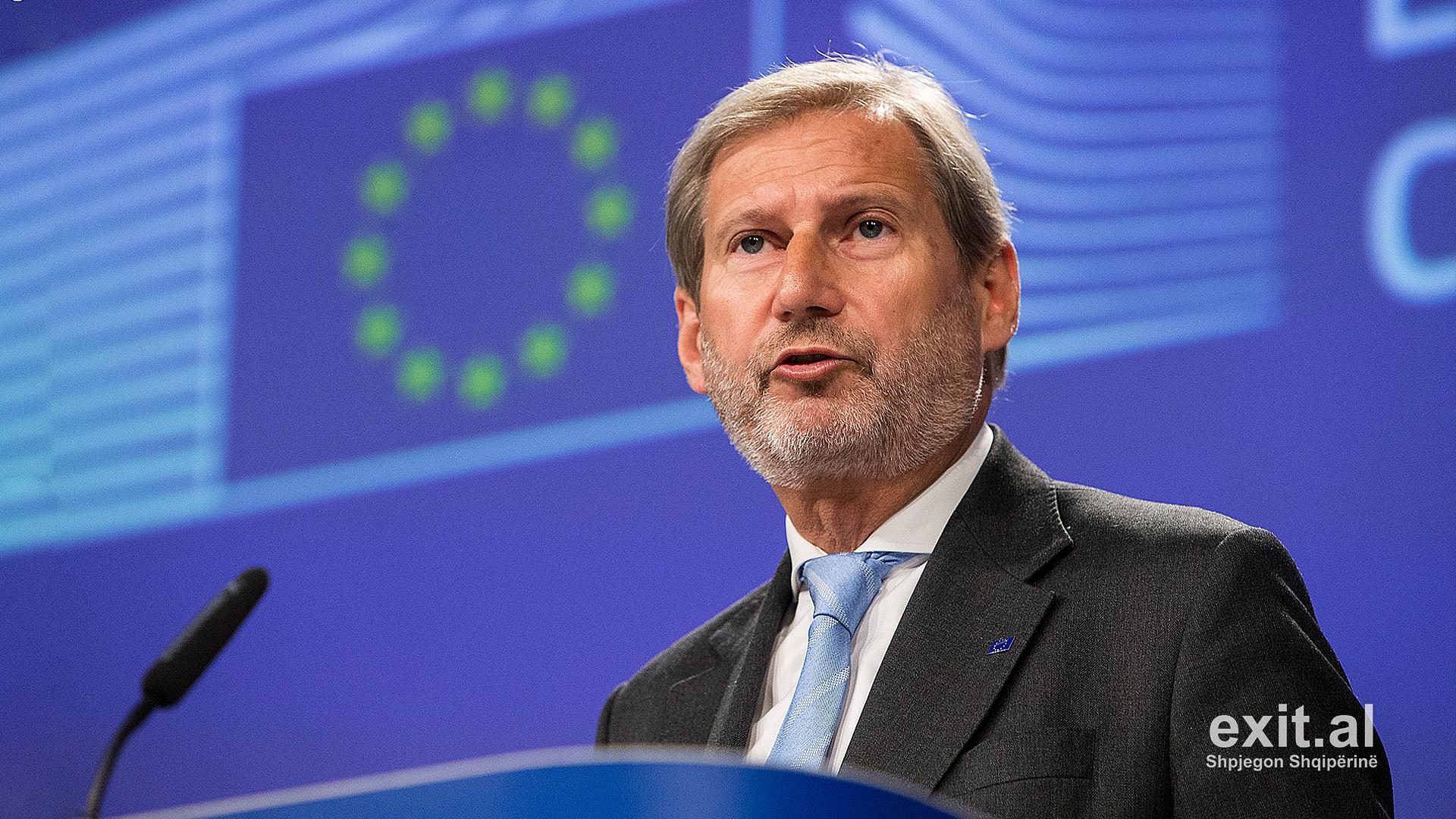 Eurokomisioneri Hahn: BE duhet të rregullojë gabimin ndaj Shqipërisë e Maqedonisë së Veriut