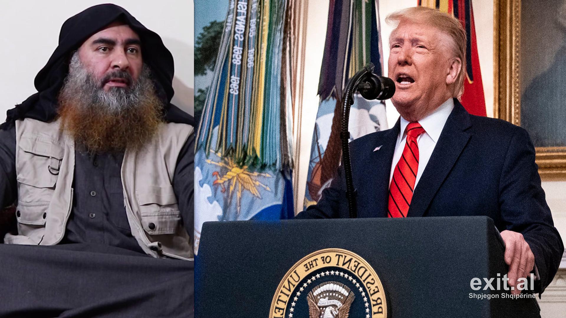 Trump konfirmon ekzekutimin e liderit të ISIS: Vdiq i frikësuar prej forcave tona