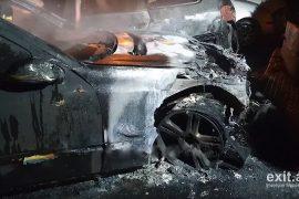 Persona të paidentifikuar i vënë zjarrin makinës së gjyqtarit në Shkodër