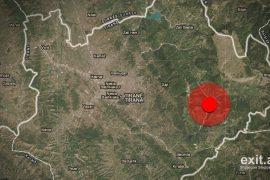 Tërmet 3.6 ballë në lindje të Tiranës