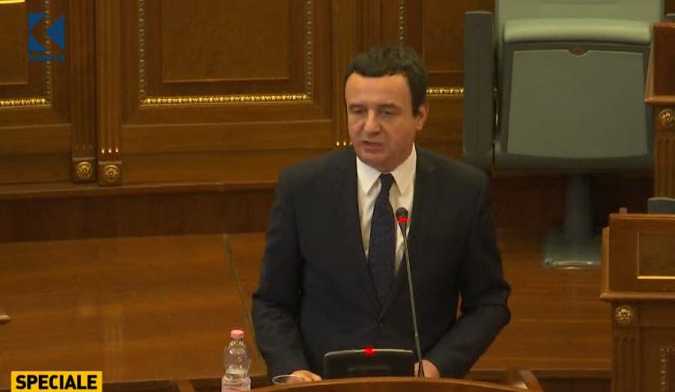 Albin Kurti propozon kabinetin e ri qeveritar të Kosovës
