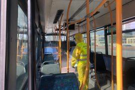 Pas kopshteve dhe çerdheve, Bashkia nis dezinfektimin e autobusëve