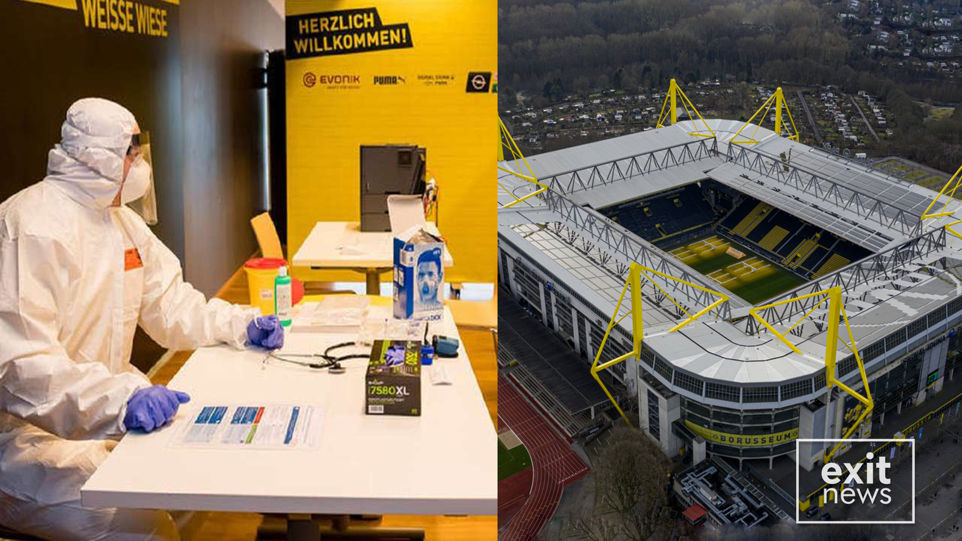 Dortmundi kthen stadiumin në spital për Covid-19