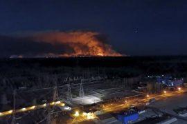 Zjarr pranë Çernobilit, ukrainasit të shqetësuar për rritjen e rrezatimeve