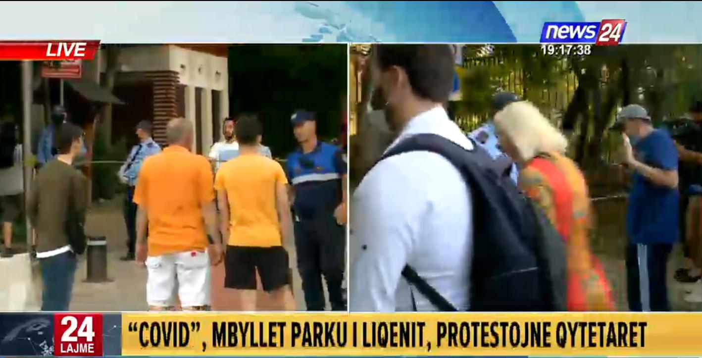 Qytetarët protestojnë tek Parku i Liqenit