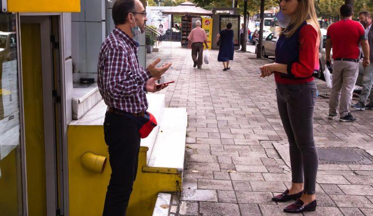 Jorida Tabaku njeh qytatarët e njësisë 3 në Tiranë me planin ekonomik të Partisë Demokratike