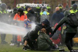 Hollandë, mbi 180 të arrestuar në protestat kundër masave anti-Covid