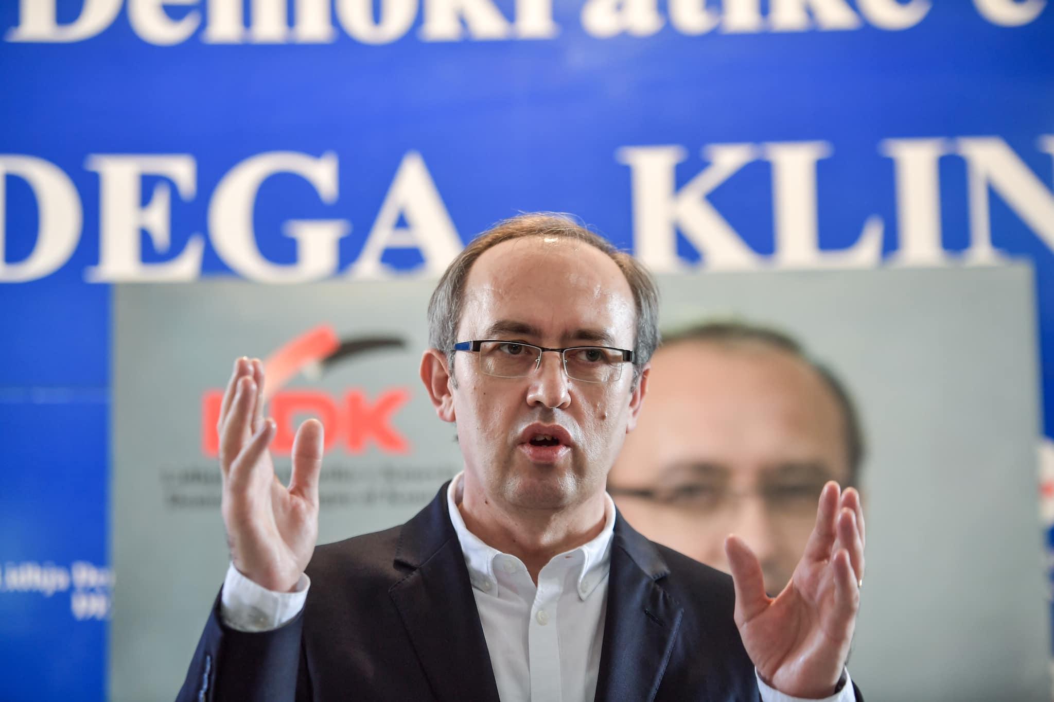Hoti: Vetëm me LDK-në, Kosova ka normalitet