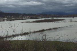 Përmbytjet në Shkodër/ Oboti i pakalueshëm nga makinat
